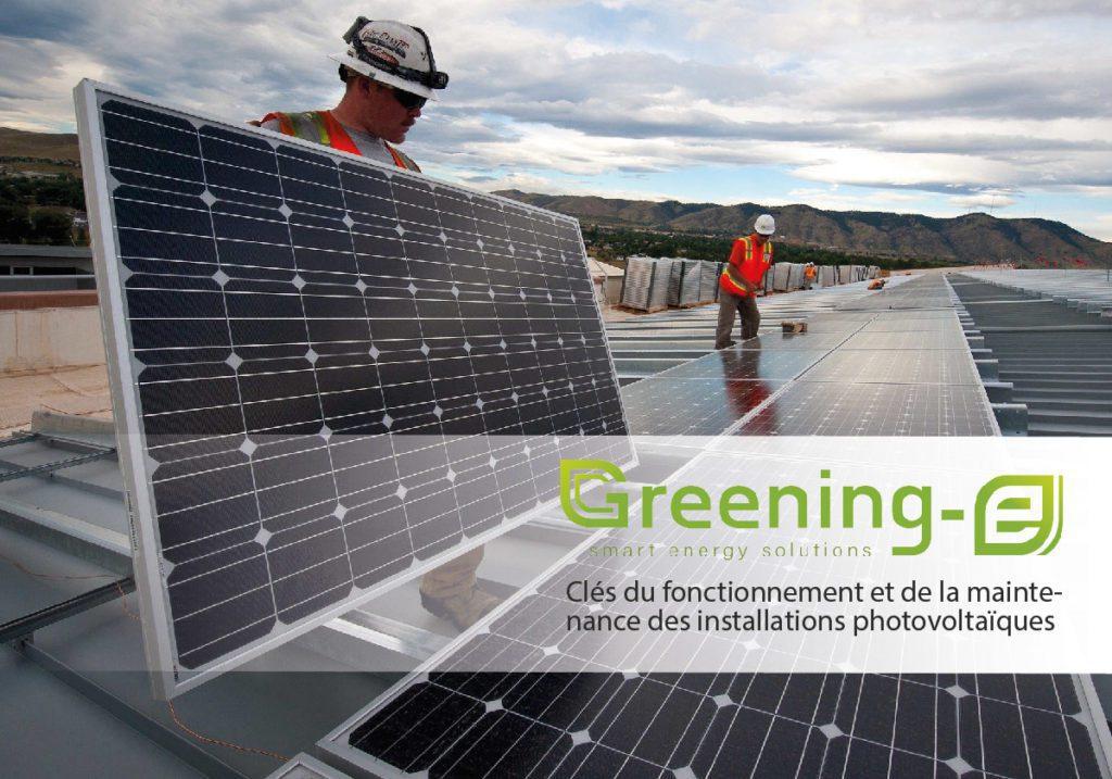 maintenance des installations photovoltaïques
